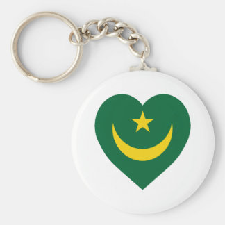 Corazón de la bandera de Mauritania Llaveros