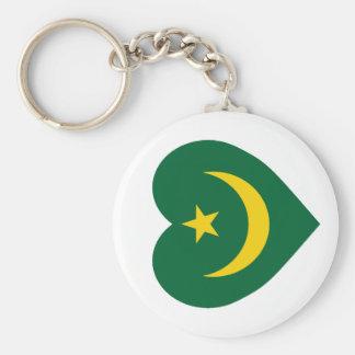 Corazón de la bandera de Mauritania Llaveros Personalizados