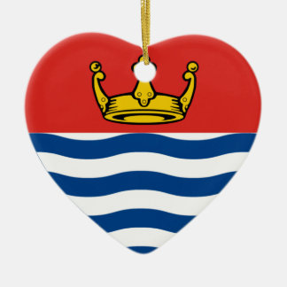 Corazón de la bandera de mayor Londres Adorno Navideño De Cerámica En Forma De Corazón