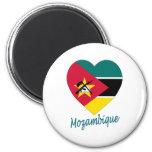 Corazón de la bandera de Mozambique Iman De Frigorífico