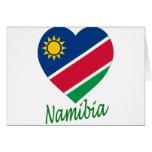 Corazón de la bandera de Namibia Felicitación