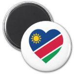 Corazón de la bandera de Namibia Imán Para Frigorifico