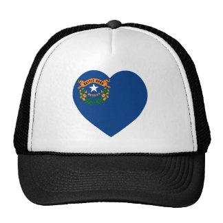 Corazón de la bandera de Nevada Gorros