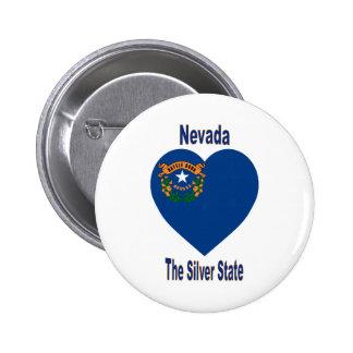 Corazón de la bandera de Nevada Pins