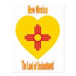 Corazón de la bandera de New México Postal
