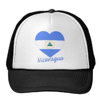 Corazón de la bandera de Nicaragua Gorro De Camionero