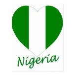 Corazón de la bandera de Nigeria Postal