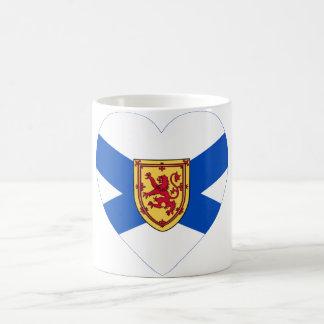 Corazón de la bandera de Nueva Escocia Taza De Café