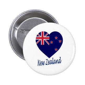 Corazón de la bandera de Nueva Zelanda Pin