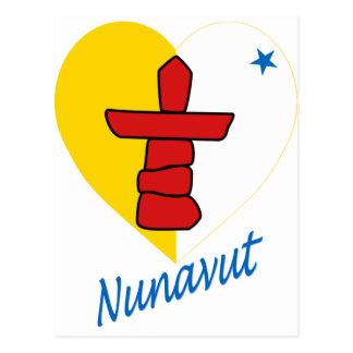Corazón de la bandera de Nunavut con nombre Postal