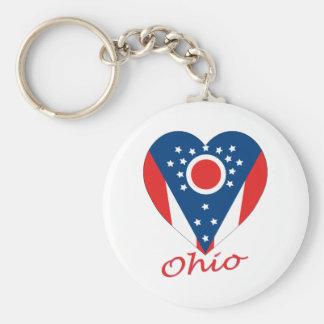 Corazón de la bandera de Ohio Llavero Personalizado