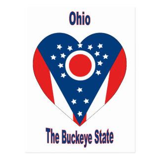 Corazón de la bandera de Ohio Postal
