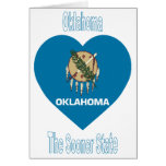 Corazón de la bandera de Oklahoma Tarjetón