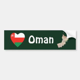 Corazón de la bandera de Omán + Pegatina para el p Pegatina Para Auto