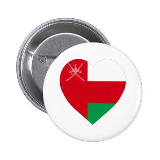 Corazón de la bandera de Omán Pin
