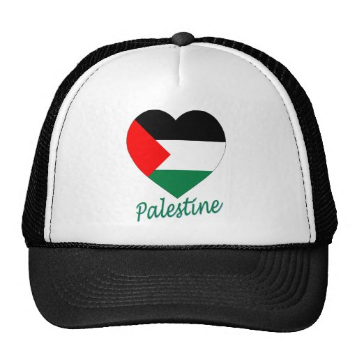 Corazón de la bandera de Palestina Gorro