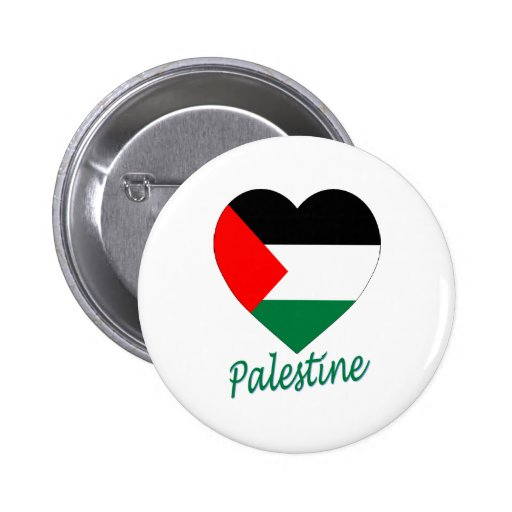 Corazón de la bandera de Palestina Pin