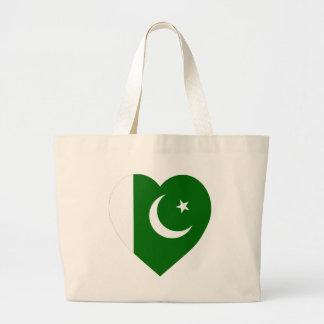 Corazón de la bandera de Paquistán Bolsas