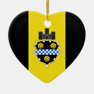 Corazón de la bandera de Pittsburgh Ornamente De Reyes