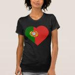 Corazón de la bandera de Portugal Camisetas