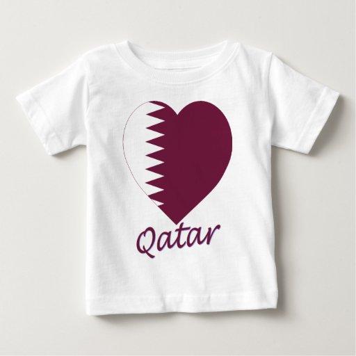 Corazón de la bandera de Qatar Polera