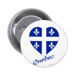Corazón de la bandera de Quebec con nombre Pin