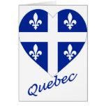 Corazón de la bandera de Quebec con nombre Felicitacion