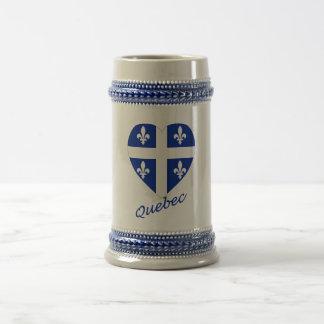 Corazón de la bandera de Quebec con nombre Taza De Café