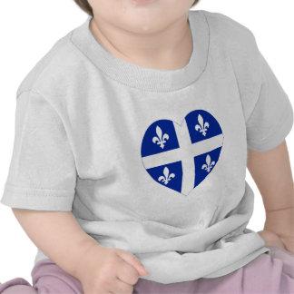 Corazón de la bandera de Quebec Camiseta