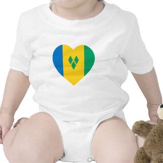 Corazón de la bandera de San Vicente/de las Trajes De Bebé