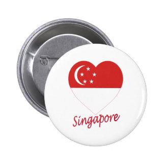 Corazón de la bandera de Singapur Pin