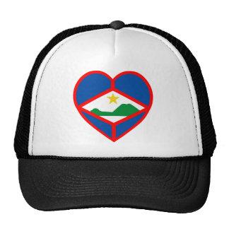 Corazón de la bandera de Sint Eustatius Gorro De Camionero