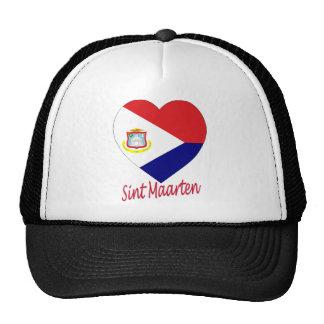 Corazón de la bandera de Sint Maarten Gorra
