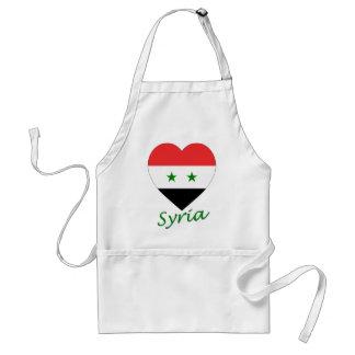 Corazón de la bandera de Siria Delantales