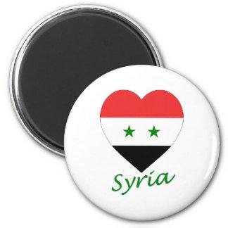 Corazón de la bandera de Siria Imán Para Frigorífico