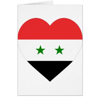 Corazón de la bandera de Siria Felicitación