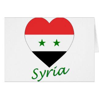 Corazón de la bandera de Siria Tarjetas