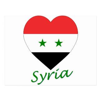 Corazón de la bandera de Siria Postal