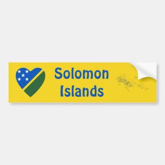 Corazón de la bandera de Solomon Island + Pegatina Pegatina Para Auto