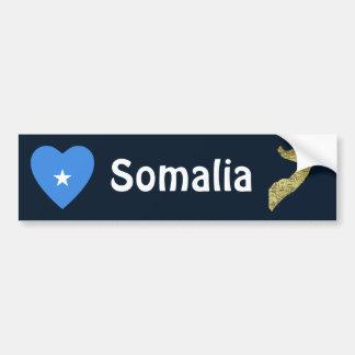 Corazón de la bandera de Somalia + Pegatina para e Pegatina Para Auto