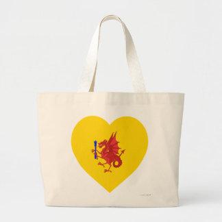 Corazón de la bandera de Somerset Bolsa Tela Grande