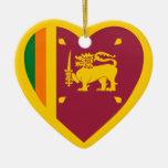Corazón de la bandera de Sri Lanka Ornamentos De Reyes Magos