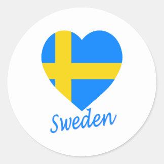 Corazón de la bandera de Suecia Pegatinas
