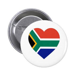 Corazón de la bandera de Suráfrica Pin