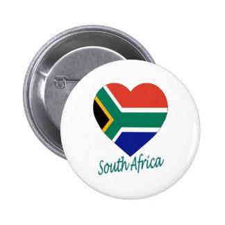 Corazón de la bandera de Suráfrica Pins