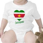 Corazón de la bandera de Suriname Trajes De Bebé