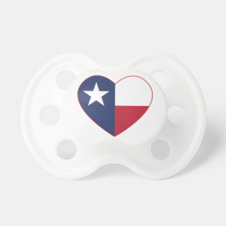 Corazón de la bandera de Tejas Chupetes De Bebe
