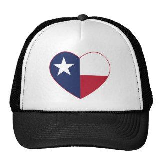 Corazón de la bandera de Tejas Gorra