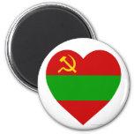 Corazón de la bandera de Transnistria Iman Para Frigorífico
