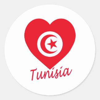 Corazón de la bandera de Túnez Pegatinas